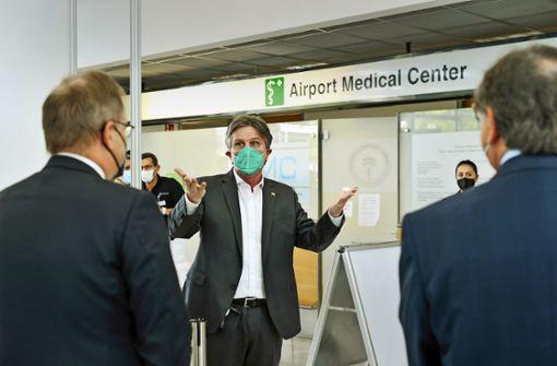 Flughafen-Betriebsärzte impfen jetzt