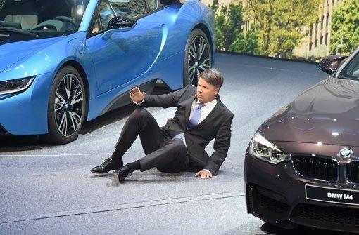 BMW-Chef Krüger am Boden