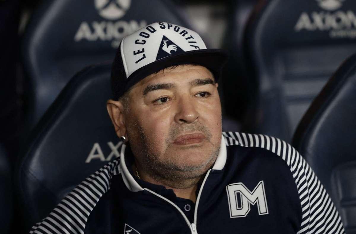 Diego Armando Maradona bekommt in Neapel ein weiteres Denkmal. Foto: AFP/ALEJANDRO PAGNI