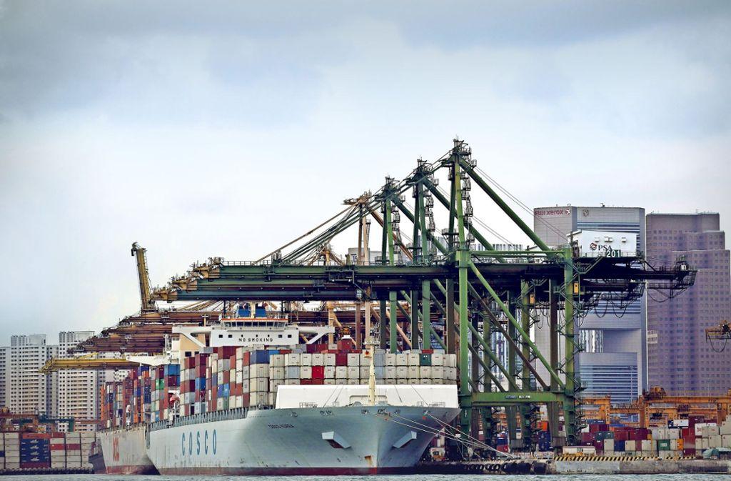 Der Handel floriert nicht nur in Singapur (Foto). Die Weltwirtschaft wächst so stark wie seit acht Jahren nicht mehr. Foto: Getty