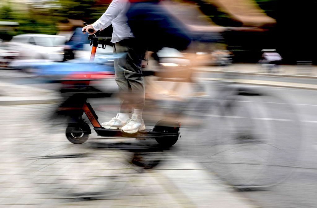 E-Scooter-Diebstähle sind laut den  Anbietern selten. Foto: dpa/Christoph Soeder