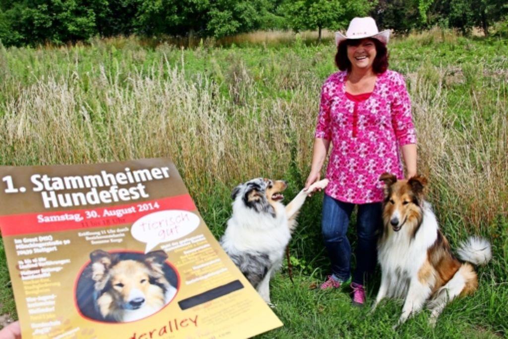 Die Stammheimerin und ihre Collies freuen sich  auf das Hundefest. Foto: Chris Lederer