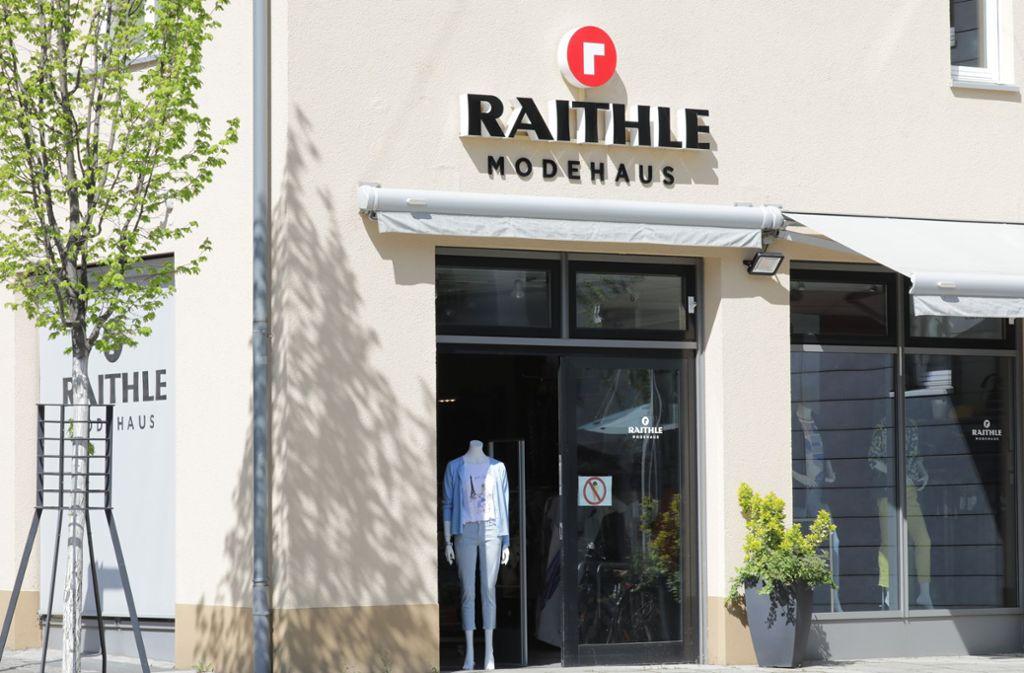 Mit Tradition: Das Modehaus Raithle im Rathaus-Carrée. Foto: Patricia Sigerist