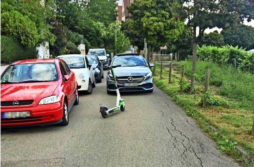 Ärger über  falsch geparkte E-Scooter