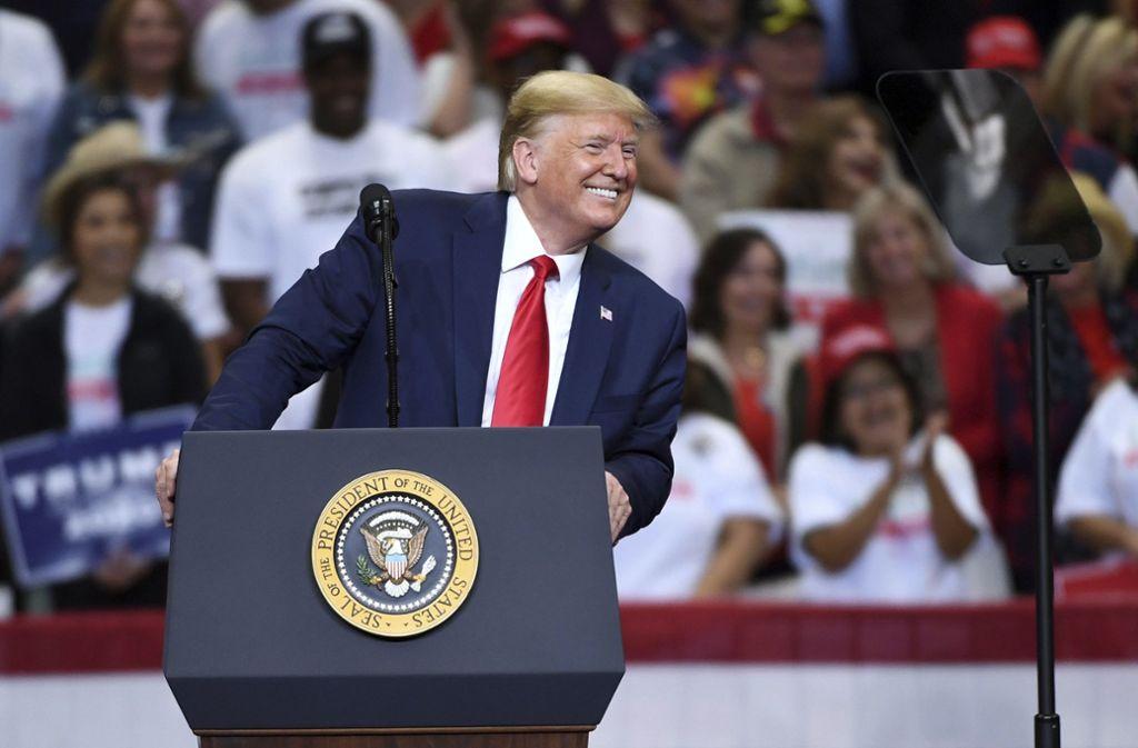Trump zeigt sich – auch auf Social Media – gerne selbstbewusst. Foto: AP/Jeffrey McWhorter