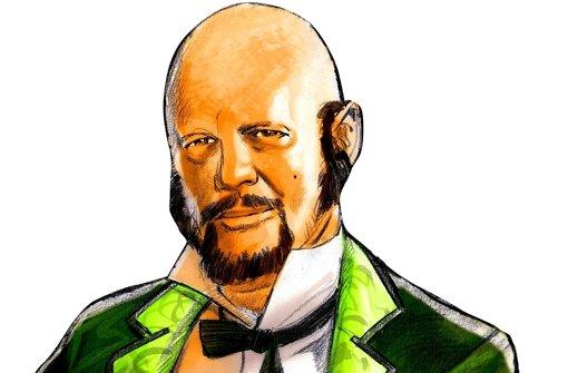 """Tad Williams im Steampunk-Look, für die StZ gezeichnet von Felix Mertikat, der bei den Dragon Days seinen Comic """"Steam Noir"""" präsentieren wird. Foto: Felix Mertikat"""