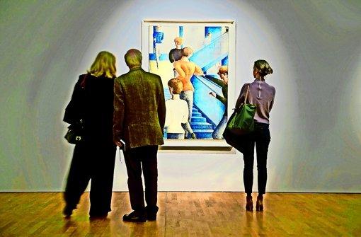 Die Werke Oskar Schlemmers brachten der Staatsgalerie rund 163000 Besucher. Foto: dpa