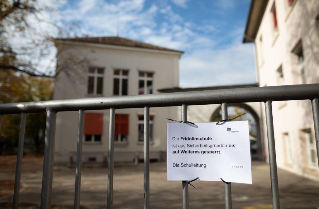 Die Fridolinschule im Lörracher Stadtteil Stetten bleibt bis auf Weiteres gesperrt. Foto: dpa/Philipp von Ditfurth