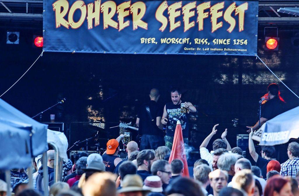Neun Bands sorgen beim Rohrer Seefest am Wochenende für Stimmung. Foto: Archiv  Krämer