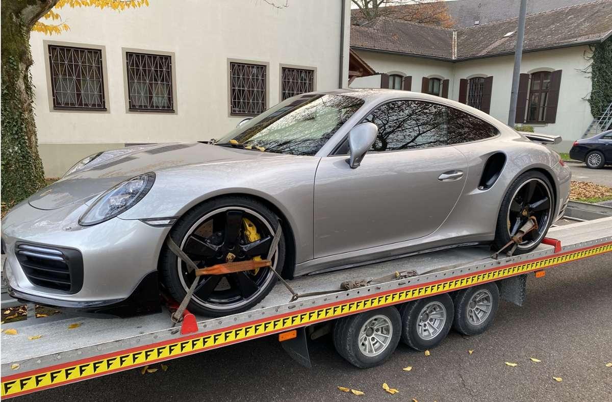 Dieser Porsche 911 wurde beschlagnahmt. Foto: Hauptzollamt Ulm