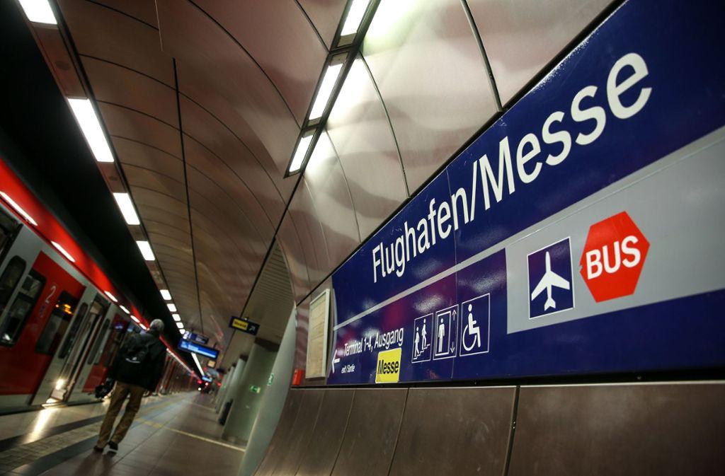 Die Diskussion um die Bahnanbindung des Stuttgarter Flughafens geht weiter. Foto: Lichtgut/Leif Piechowski