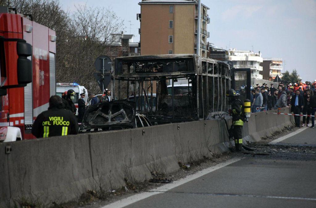 Das Motiv des Brandstifters ist noch unklar. Foto: ANSA/AP