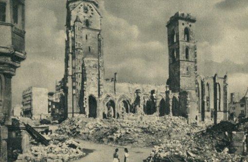 Lange bestimmten Ruinen das Bild