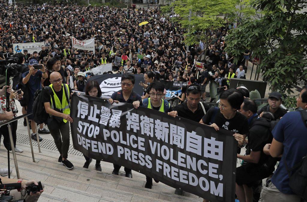 Seit Wochen protestieren die Menschen in Hongkong gegen die Regierung. Foto: picture alliance/dpa
