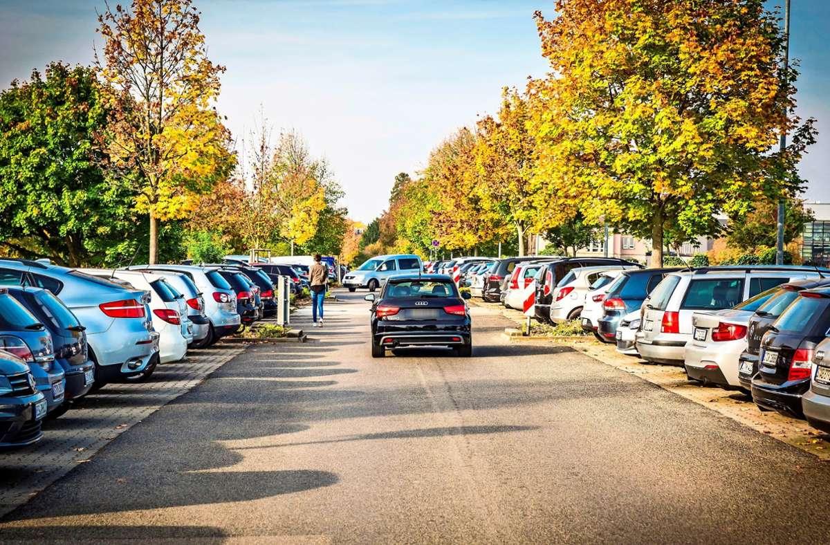 An der Uni Hohenheim einen Parkplatz zu finden, ist nicht immer leicht. Ändert sich das bald? Foto: Lichtgut/Julian Rettig