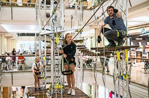 Adrenalinkick in Höhenlagen des Einkaufszentrums