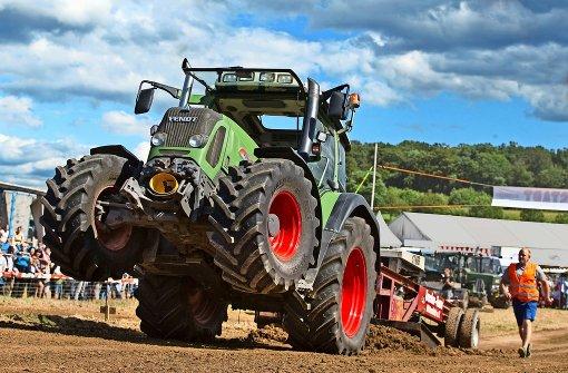 Vollgas mit dem Traktor
