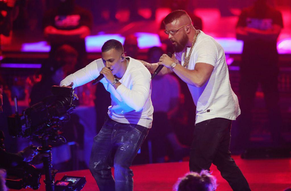 Umstritten: Farid Bang und Kollegah bekamen einen Echo für ihr gemeinsames Album. Foto: Getty Images Europe