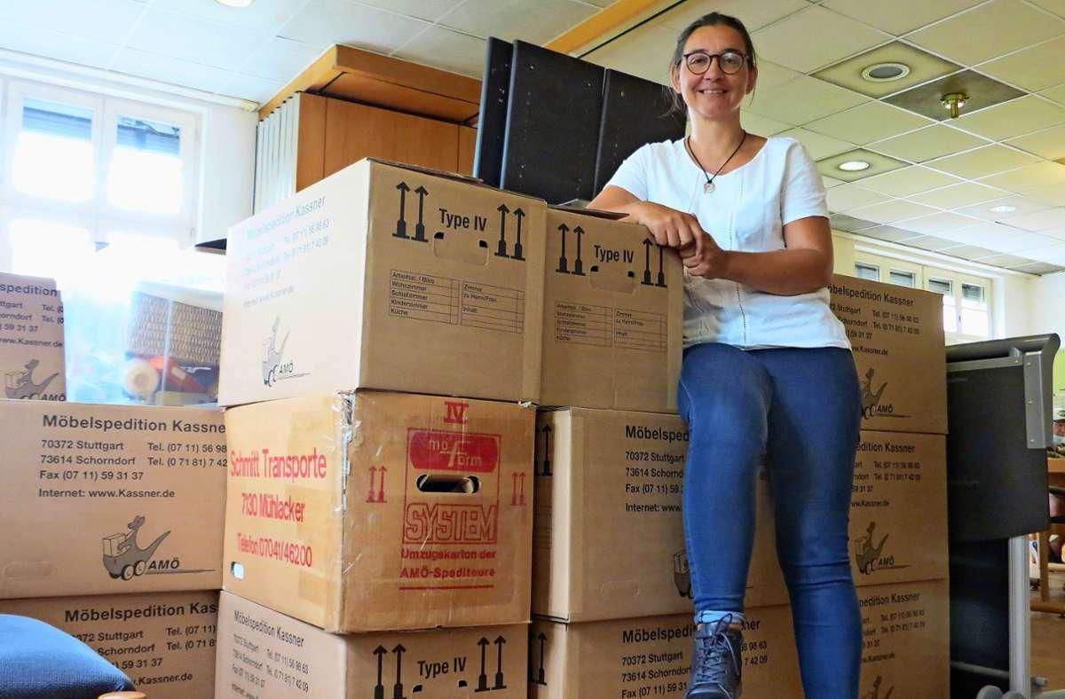 Die Umzugskisten sind gepackt: In wenigen Tagen verlassen  Bianca Jahnke und ihre Mitarbeiter das Gebäude an der Lothringer Straße 13A Foto: /Bernd Zeyer