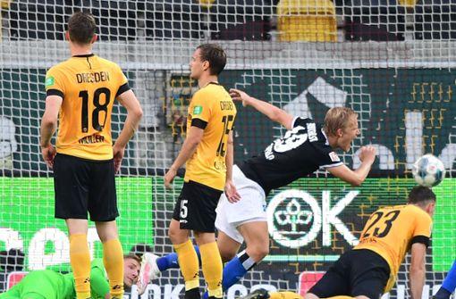 HSV siegt in Dresden, Bielefeld nur Remis