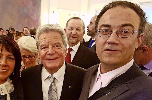 Ein Böblinger verabschiedet Gauck