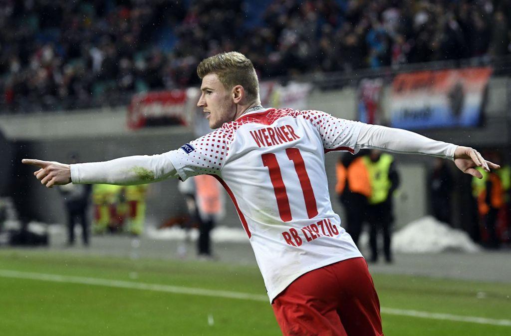 Timo Werner kehrt mit RB Leipzig nach Stuttgart zurück. Foto: AP