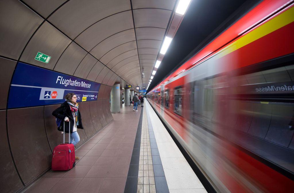 Der Flughafen braucht eine S-Bahn-Anbindung ebenso wie Messe und Filderstadt. Foto: dpa