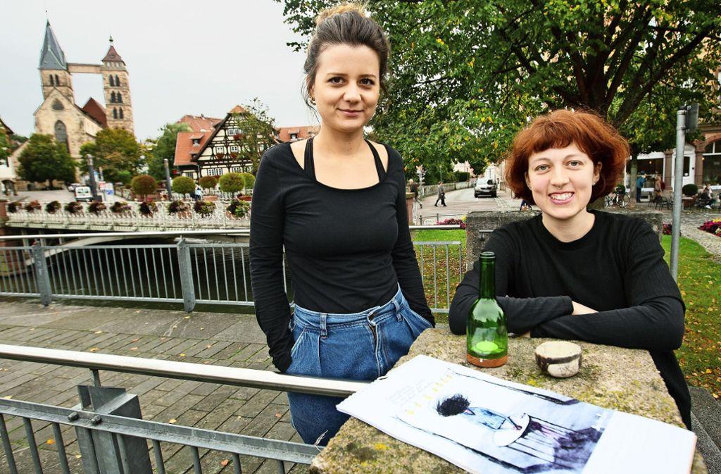 Larissa Bense (links) und Anika Roll  setzen auf  Nachhaltigkeit. Foto: Ines Rudel