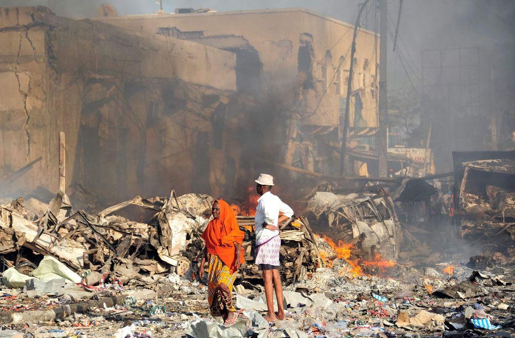 Selbstmordanschlag in Mogadischu Zahl der Toten auf 276 gestiegen