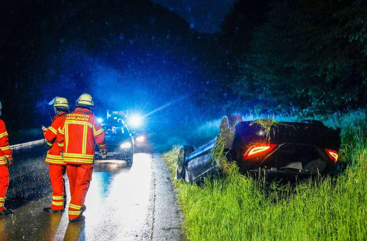 Der Unfall ereignete sich bei Geislingen. Foto: 7aktuell.de// Christina Zambito