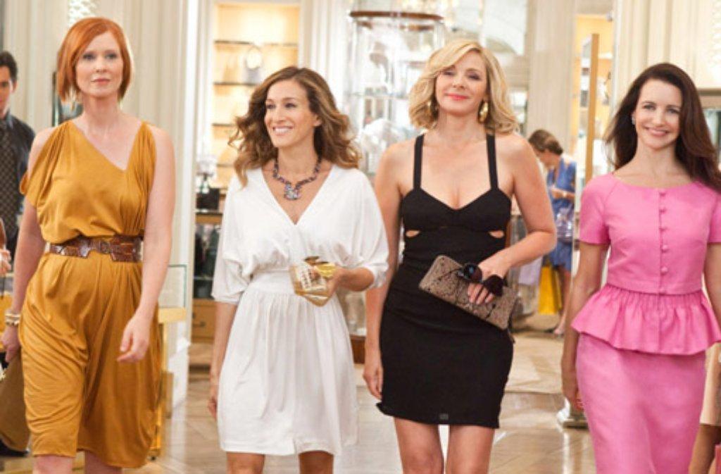 Kommen Cinthia Nixon, Sarah Jessica Parker, Kim Cattrall und Kristin Davis (von links) zu einem dritten Sex and the City-Kinofilm zusammen? Foto: Warner Movies