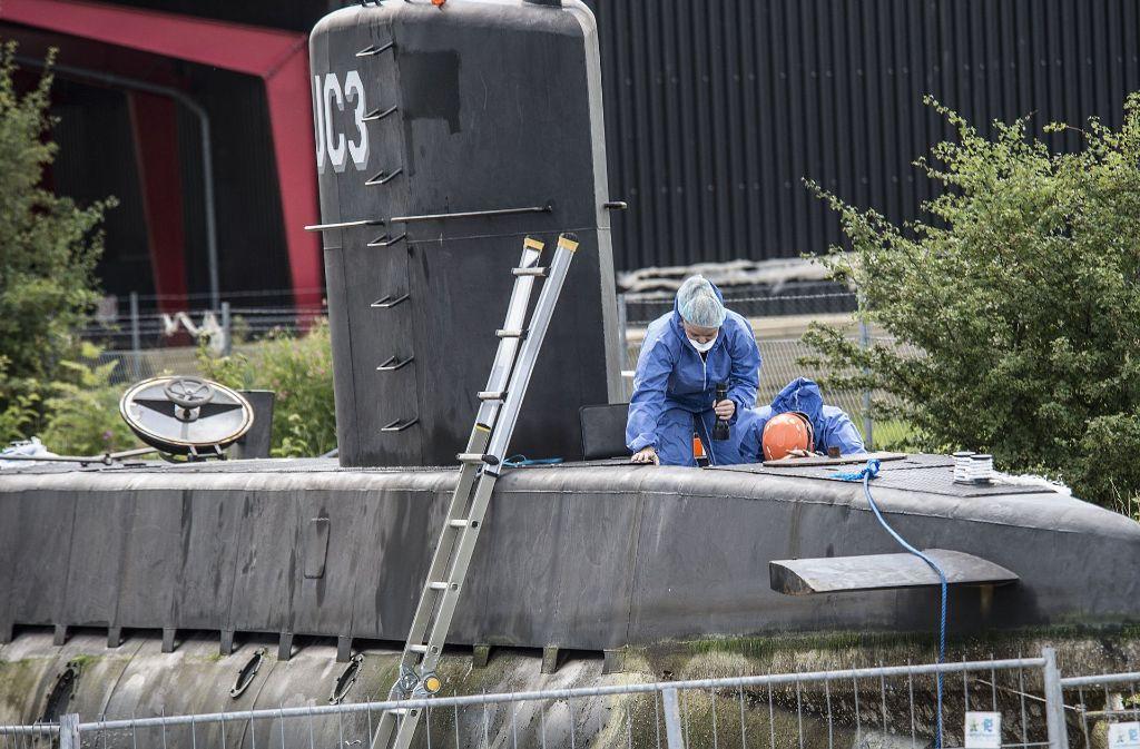 Entlang der Route, die das U-Boot von Peter Madsen fuhr, fanden Taucher eine Säge. Foto: AP