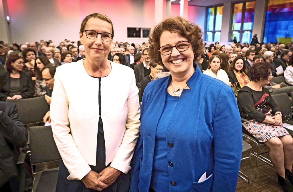 Cornelia Ewigleben (li.) und ihre Nachfolgerin Astrid Pellengahr Foto: Lichtgut/Achim Zweygarth