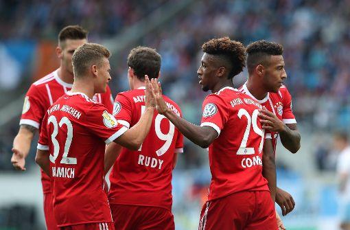 Meister FC Bayern siegte am Samstag in der ersten Runde beim Drittligisten Chemnitzer FC 5:0. Foto: Bongarts