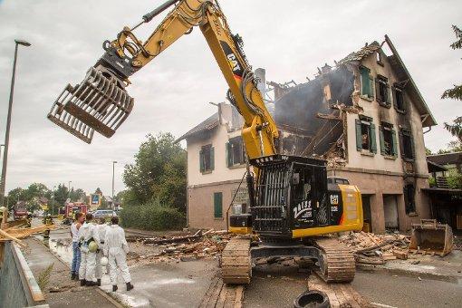 Asylunterkunft nach Feuer abgerissen