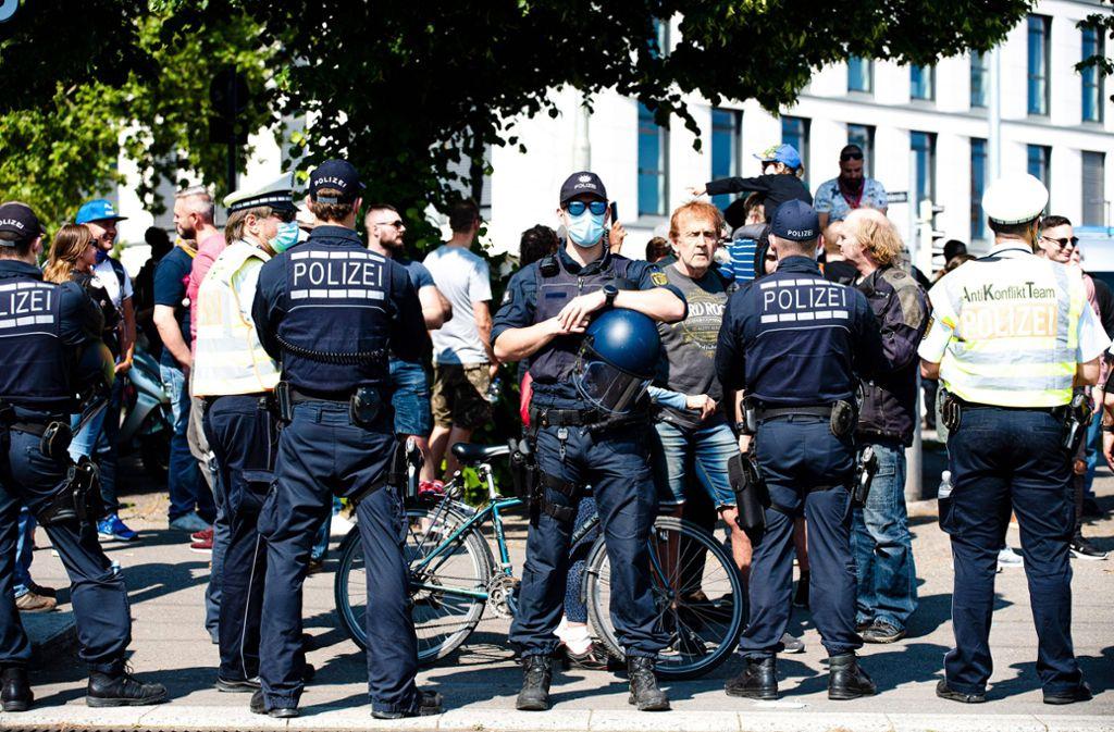 Am Rande der Demos kam es zu mehreren Auseinandersetzungen. Foto: 7aktuell//Marc Gruber (Archiv)