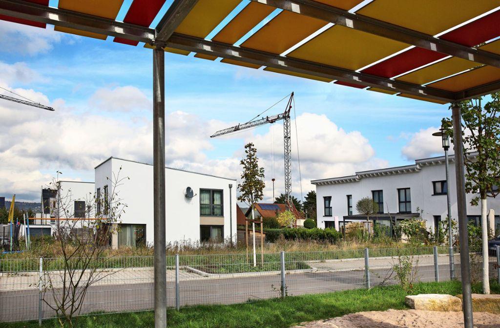 Auch die Grundstücksbesitzer im neuen Wohngebiet Strengenäcker in Berkheim haben von der Umwandlung profitiert. Foto: Horst Rudel