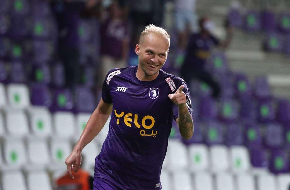 Ex-VfB-Spieler Raphael Holzhauser mischt die belgische Liga auf. Foto: imago images/Pro Shots