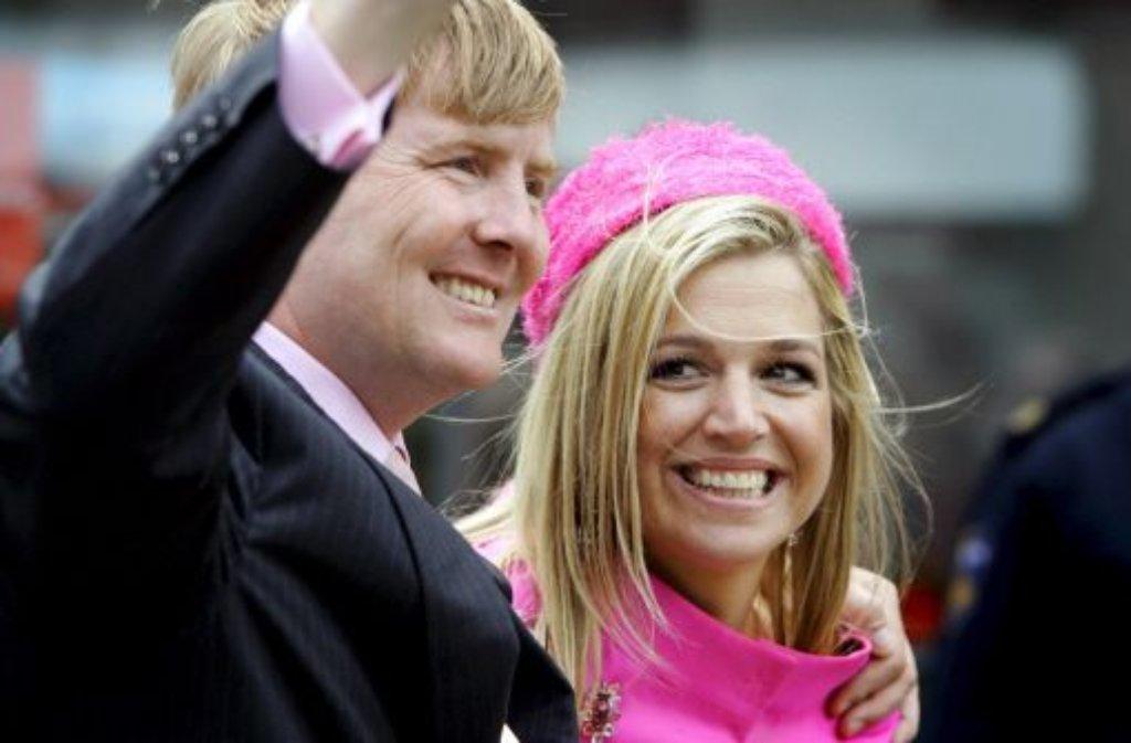 Am 4. Juni kommen der frischgebackene niederländische König Willem-Alexander und seine Frau Máxima nach Stuttgart. Foto: dpa