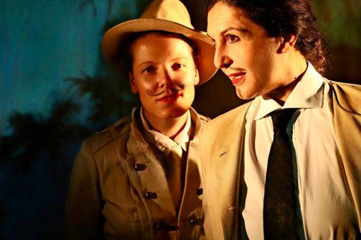 """Julianna Herzberg (links) spielt im Stück """"Triumph der Liebe"""" die Corine, Schirin Brendel die Leonida. Am 15. Oktober ist Premiere im Forum Theater."""
