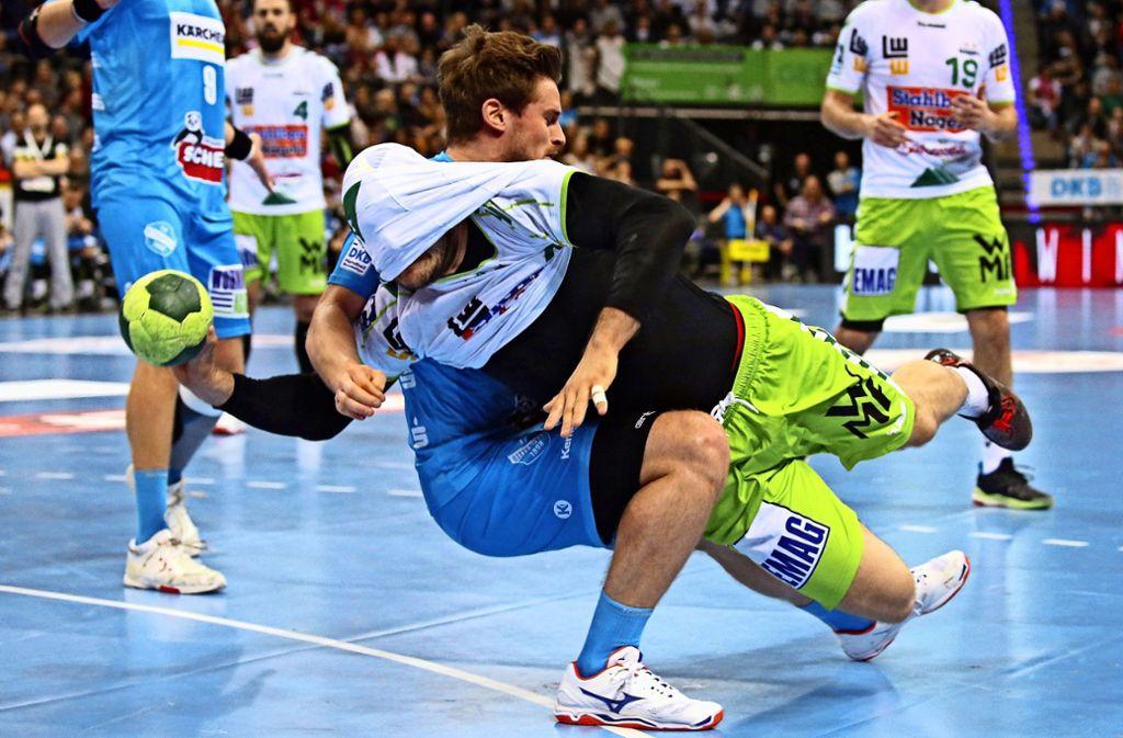 Heiße Derby-Duelle am Kreis zwischen dem TVB Stuttgart und Frisch  Auf Göppingen: Wann geht es in der Handball-Bundesliga wieder los? Foto: Baumann