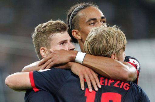 RB-Traumstart perfekt:Werner trifft dreimal inMönchengladbach
