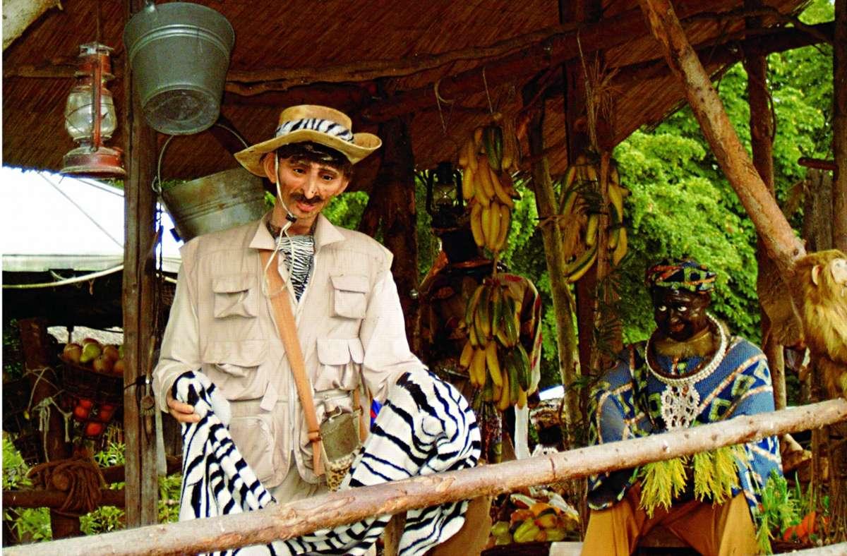 Dieses Bild aus dem Jahr 2004 zeigt eine Szene der Dschungel-Floßfahrt im Europapark. Foto: Heiko Wegmann