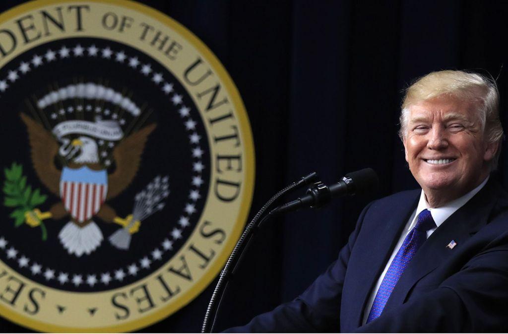"""Trumps  Motto """"America first"""" steht für eine neue Außenpolitik. Foto:"""