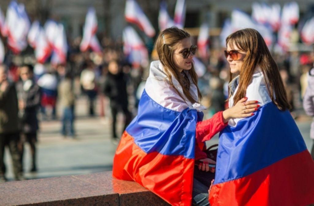 Die Bewohner der Krim stimmen an diesem Sonntag über einen Anschluss an Russland ab. Foto: dpa
