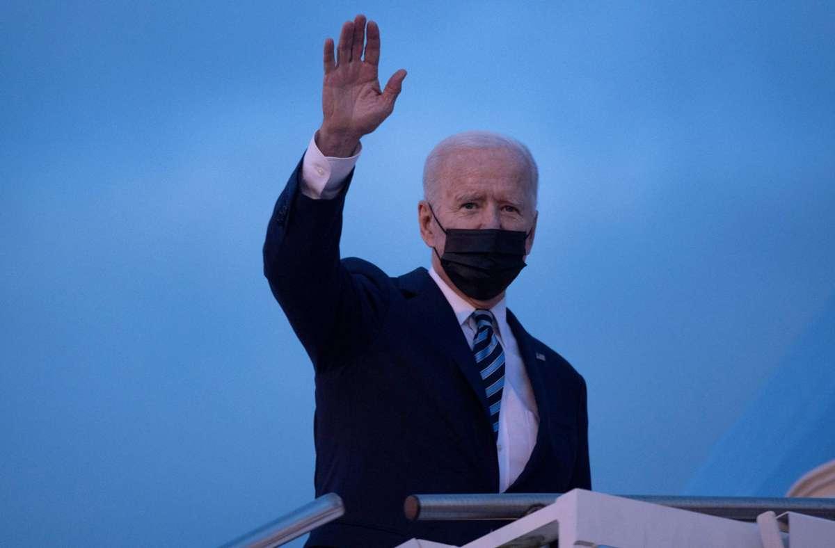 US-Präsident Joe Biden hat Bundeskanzlerin Angela Merkel ins Weiße Haus eingeladen. (Archivbild) Foto: AFP/BRENDAN SMIALOWSKI