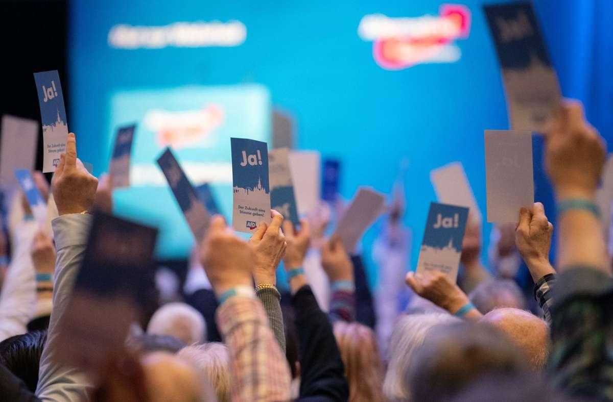 Die Landes-AfD hielt im Februar einen Parteitag in Böblingen ab, im Dezember will sie einen weiteren Präsenzparteitag in Göppingen veranstalten. Foto: dpa/Marijan Murat