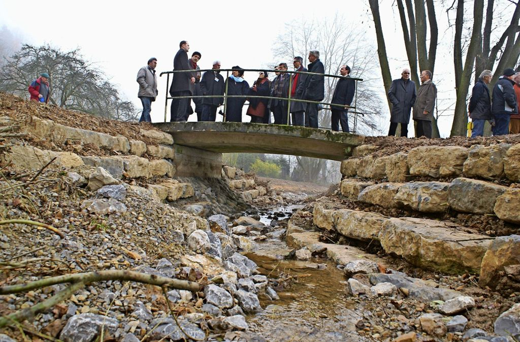 2008 wurde  mit der Freilegung des Ramsbachs in Degerloch begonnen. Nun steht eine Renaturierung auch in Plieningen an. Foto: Archiv Regine Warth