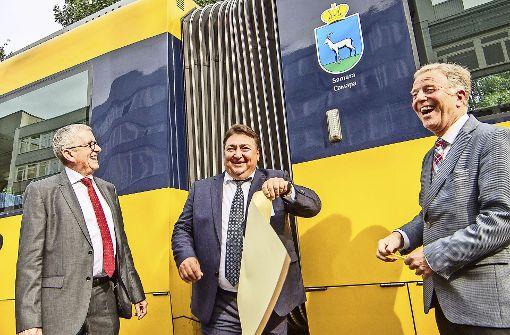 25 Jahre Städtepartnerschaft: Samara fährt durch Stuttgart