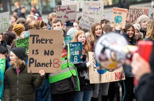 Schüler demonstrieren für Kohle-Ausstieg